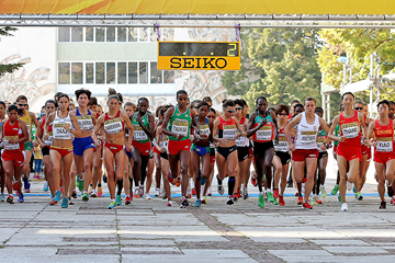 The start of the women's race at the IAAF World Half Marathon Championships Kavarna 2012 (Getty Images)