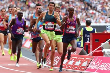 Adel Mechaal at the London Diamond League meeting (AFP/Getty Images)