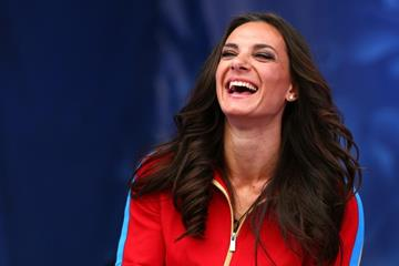 Yelena Isinbayeva at the IAAF World Championships, Moscow 2013 (Getty Images)