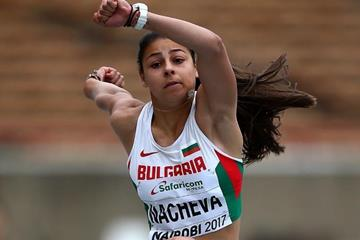 Aleksandra Nacheva in the triple jump at the IAAF World U18 Championships Nairobi 2017 (Getty Images)