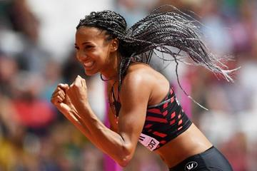 Nafissatou Thiam in the heptathlon high jump at the IAAF World Championships London 2017 (Getty Images)