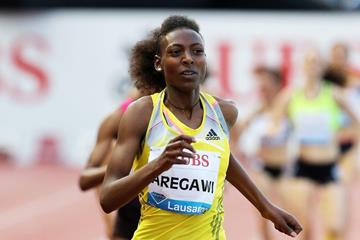 Abeba Aregawi at the 2013 IAAF Diamond League meeting in Lausanne (Gladys von der Laage)