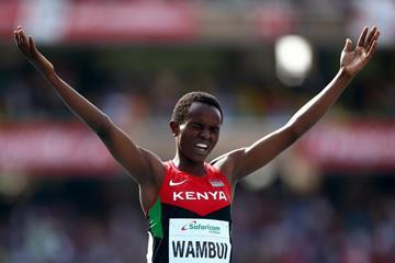 Jackline Wambui wins the girls' 800m at the IAAF World U18 Championships Nairobi 2017 (Getty Images)