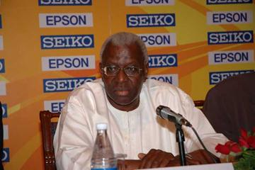 President Lamine Diack in New Delhi (IAAF)