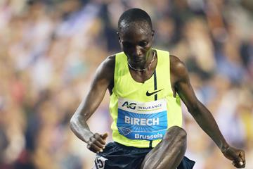 Jairus Birech at the 2014 IAAF Diamond League final in Brussels (Gladys von der Laage)