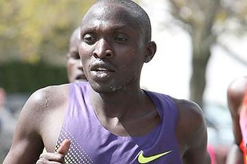 Gilbert Yegon at the 2010 Boston Marathon (Victah Sailer)