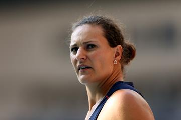 Melina Robert-Michon in the discus at the IAAF World Championships (Getty Images)