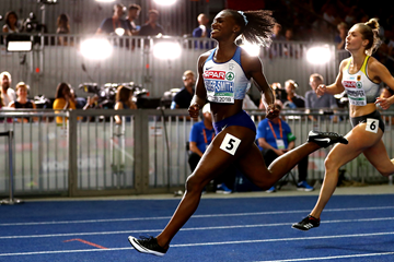 Dina Asher-Smith wins the 100m at the European Championships in Berlin (Getty Images)