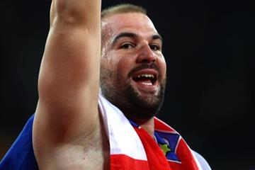 Stipe Zunic after taking bronze in the shot put at the IAAF World Championships London 2017 (Getty Images)