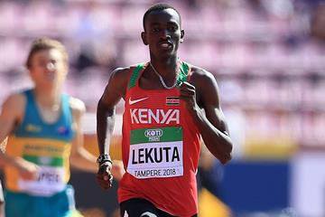 Solomon Lekuta in the 800m at the IAAF World U20 Championships Tampere 2018 (Getty Images)