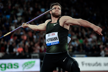 Andreas Hofmann in the javelin at the IAAF Diamond League final in Zurich (Mark Shearman)