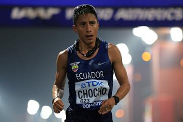 Race walker Andres Chocho of Ecuador (AFP/Getty Images)