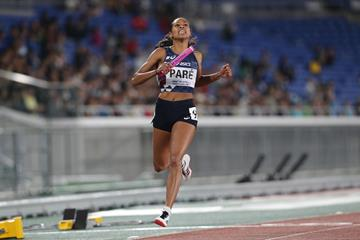 Maroussia Pare anchors France to victory in the women's 4x200m at the IAAF World Relays Yokohama 2019 (Roger Sedres)