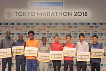 Part of the elite field for the 2018 Tokyo Marathon (Ken Nakamura)