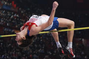 Russia's Ivan Ukhov in action in the high jump (Getty Images)