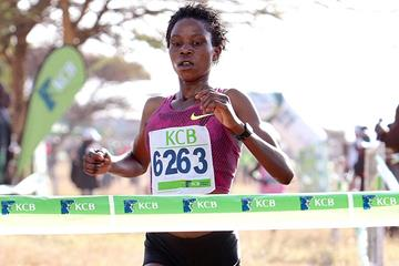 Rosefline Chepngetich wins the junior women's race at the Kenyan Cross Country Championships (David Ogeka / Photo Run)