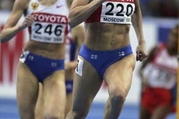 Yuliya Chizhenko of Russia on her way to  victory in the 1500m final (Getty Images)
