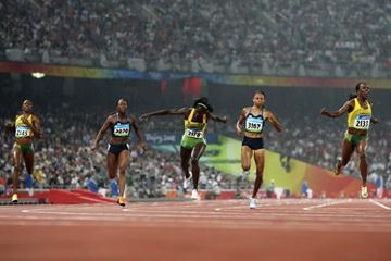 Veronica Campbell-Brown wins the Olympic 200m title as four women run 22.01 or faster (Getty Images)