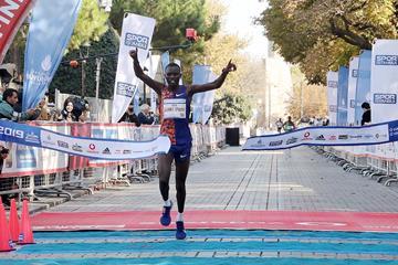 Daniel Kibet wins the Istanbul Marathon (Organisers)