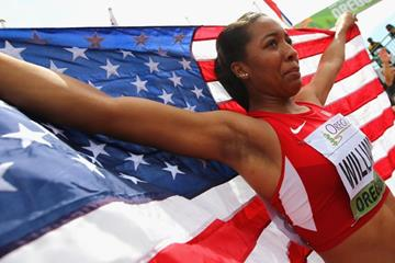 100m hurdles winner Kendell Williams at the IAAF World Junior Championships, Oregon 2014 (Getty Images)