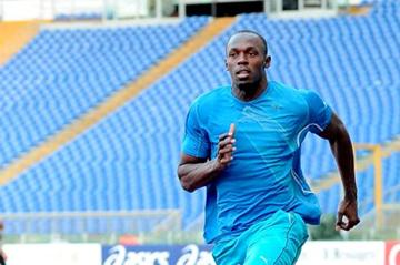 Usain Bolt training at Rome's Olympic Stadium (GMT/FIDAL)