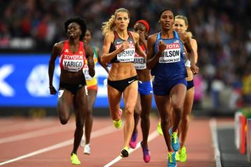 Ajee Wilson in the 800m semi finals at the IAAF World Championships London 2017 (Getty Images)