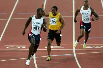 Justin Gatlin takes gold in the men's 100m final (Getty Images)