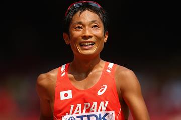 Takayuki Tanii in the 50km race walk at the IAAF World Championships, Beijing 2015 (Getty Images)