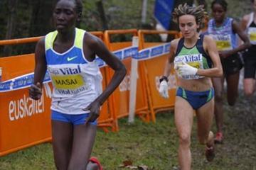 Linet Masai running in style at the 25th 'Cross Internacional Valle de Llodio' (José Montes)