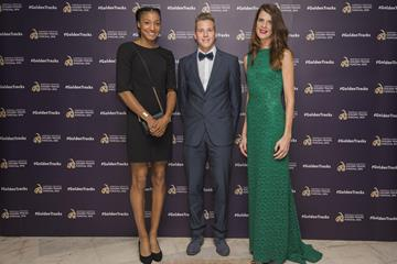 Nafissatou Thiam, Max Hess and Ruth Beitia at the 2016 European Athletics Golden Tracks Awards in Funchal (Getty Images)