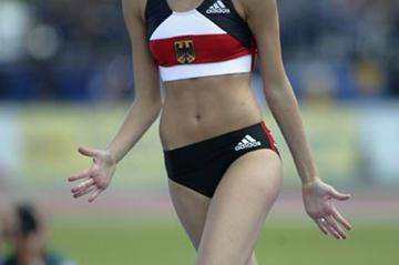 Elizaveta Ryshich of Germany celebrates winning the Pole Vault (Getty Images)