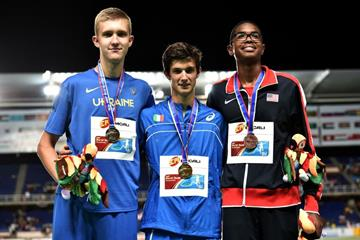Boys' high jump podium at the IAAF World Youth Championships, Cali 2015 (Getty Images)