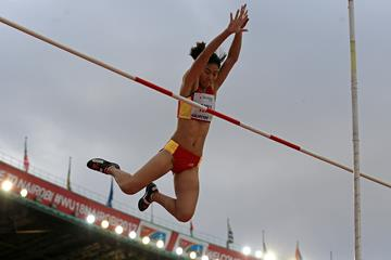 Niu Chunge in the pole vault at the IAAF World U18 Championships Nairobi 2017 (Getty Images)