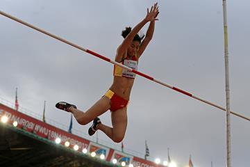 Niu Chunge in the pole vault at the IAAF World U18 Championships Nairobi 2017 (Getty Images)