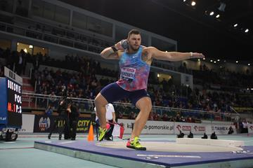 Konrad Bukowiecki joins the 22-metre club in Torun (Jean Pierre Durand)