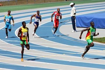 Kirani James leads home the field in the U20 400 final - 2009 CARIFTA Games (Jed Charles)
