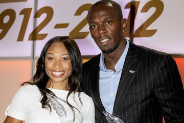 2012 World Athletes of the Year Allyson Felix and Usain Bolt in Barcelona  (Giancarlo Colombo)