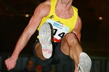 Roman Novotny at the Czech indoor championships (Jan Kucharcik/atletika.cz)