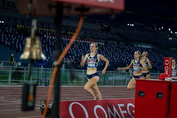 Jemma Reekie on her way to winning the 800m at the Wanda Diamond League meeting in Rome (Chris Cooper)