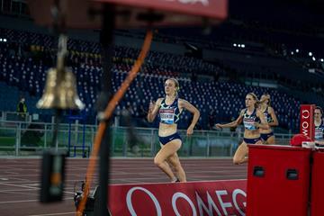Jemma Reekie on her way to winning the 800m at the Wanda Diamond League meeting in Rome (Chris Cooper)