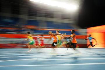 Athletes in action in the heats of the men's 4x100m at the IAAF/BTC World Relays Bahamas 2017 (Getty Images)