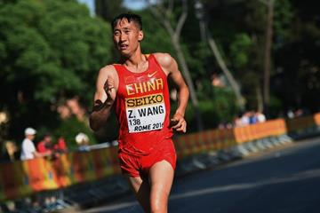 Wang Zhen in the men's 20km at the IAAF World Race Walking Team Championships Rome 2016 (Getty Images)