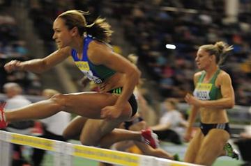 Jessica Ennis equals her 7.95 PB in Sheffield (Getty Images)