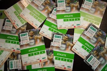 Athlete accreditation in Dusseldorf (Bob Ramsak)