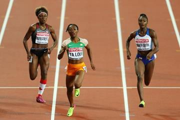 Marie-Josee Ta Lou in the 200m semi-finals at the IAAF World Championships London 2017 (Getty Images)