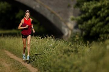 British middle distance runner Eilish McColgan training near Manchester (Getty Images)