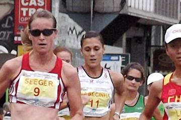 Melanie Seeger (l) in La Coruna (Véronique Warburton)