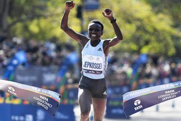 Debutante Jepkosgei and Kamworor victorious at New York City