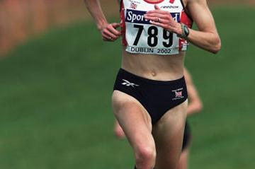 Paula Radcliffe winning the 2002 World Cross Country title (Getty Images)