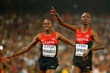 Asbel Kiprop wins the 1500m from Elijah Manangoi at the IAAF World Championships, Beijing 2015 (Getty Images)
